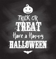 chalkboard Halloween background vector image vector image