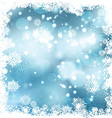 Christmas snowy background vector image vector image
