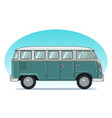 classic retro camper van side view colorful vector image