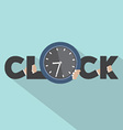 Clock Typography With Hands Symbol Design vector image vector image