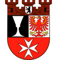 coat of arms of neukoelln in berlin germany vector image vector image