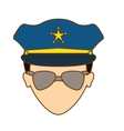 color police face icon image vector image vector image