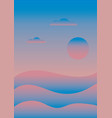 colorful abstract sunrise landscape over the sea vector image