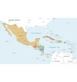 colorful map central america vector image vector image