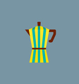 Colorful Stripes Coffee Pot vector image vector image