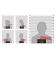 criminal mug shot line police isolated vector image