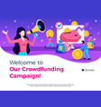 crowdfunding campaign promotion design vector image