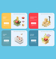 delivery isometric banners set vector image