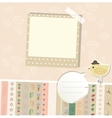 Design elements for scrapbook vector image vector image