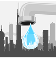 drop of city vector image