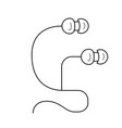 earpieces line icon vector image