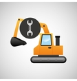 excavator machine wrench tool graphic vector image vector image