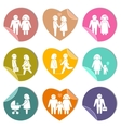 Family stickers set vector image vector image