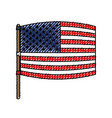 flag united states of america wave out design in vector image vector image