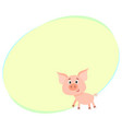 funny little smiling pig with swirling tail vector image vector image