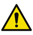 general hazard symbol sign warning sign vector image vector image