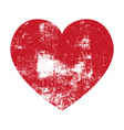 grunge heart red heart heart shape distressed vector image vector image