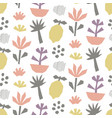 hand drawn cut paper seamless pattern vector image