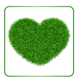 Heart green grass background 1 vector image vector image