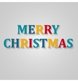 Holiday Lettering Merry Christmas vector image
