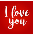 I Love You Lettering Design vector image vector image