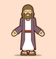 jesus christ smile cartoon graphic vector image vector image