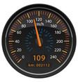 kmh kilometers per hour speedometer odometer vector image vector image