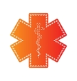 Medical symbol of the Emergency Star of Life vector image vector image