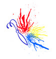 multicolored watercolor splashes in the form of a vector image vector image