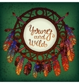 Native american indian dream catcher vector image vector image