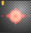 neon red target isolated game interface element vector image