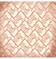 Old shabby background with hearts vector image vector image