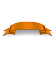 orange ribbon banner satin glossy bow blank vector image vector image