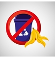 organic trash prohibited graphic vector image