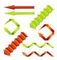 Paper arrows set vector image vector image