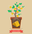 Passive income from gold fund vector image vector image