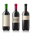 Patterns of black empty wine bottles vector image