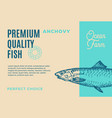 premium quality anchovy abstract fish vector image vector image