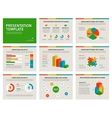 Presentation template Infographic elements on vector image vector image