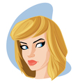 pretty woman with sandy blonde hair portrait carto vector image