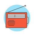 radio flat line icon vector image