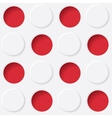 red and white circles vector image vector image