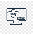 robber on monitor concept linear icon isolated on vector image