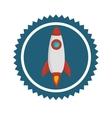 Rocket spaceship icon vector image vector image