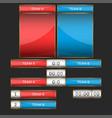 scoreboard mockup set for sports team game vector image vector image