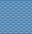 sea waves blue and white seamless pattern vector image