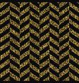 seamless chevron pattern glittering golden vector image vector image