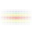 sickle and hammer spectrum halftone array vector image