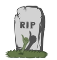 Spooky tombstone vector image vector image