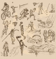 sport mix - an hand drawn collection vector image vector image